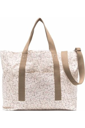 BONPOINT Abstract-print cotton changing bag - Neutrals