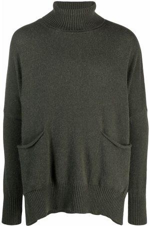 MA'RY'YA Men Turtlenecks - Oversized roll-neck wool jumper