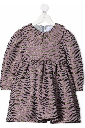 PAADE Girls Printed Dresses - Metallic zebra-pattern dress