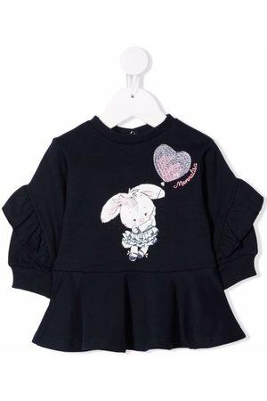 MONNALISA Baby Printed Dresses - Bunny-print sweatshirt dress