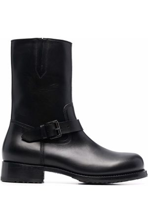 Dsquared2 Buckled leather ankle boots
