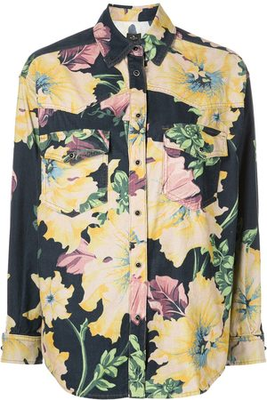 Etro Floral-print denim shirt
