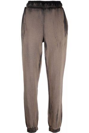 Cotton Citizen Women Sweatpants - Tie dye-print cotton track pants - Neutrals