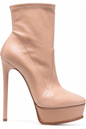 Casadei Platform leather boots - Neutrals