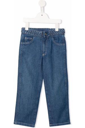 Chloé Girls Straight - Braided-waist straight-leg jeans