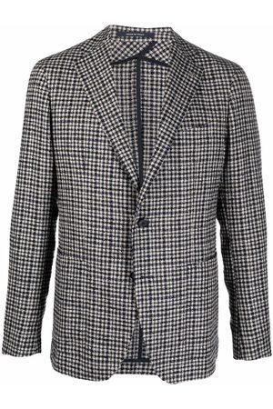 TAGLIATORE Check-print single-breasted blazer