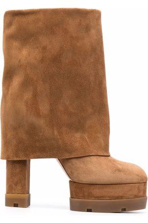 Casadei Folded-cuff platform boots