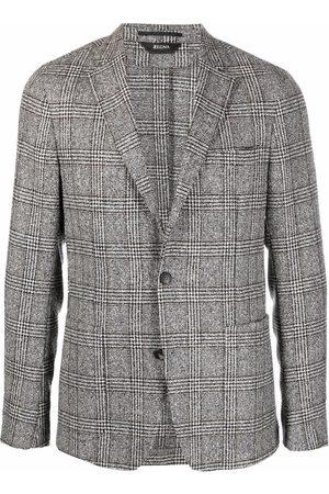 Z Zegna Men Blazers - Single-breasted checked blazer - Grey