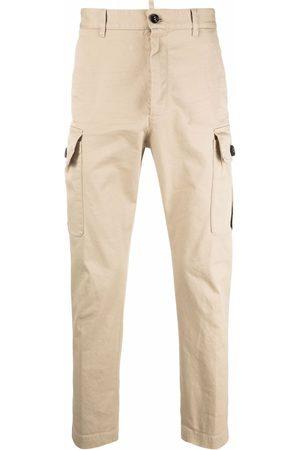 Dsquared2 Men Cargo Pants - Straight-leg cargo trousers - Neutrals