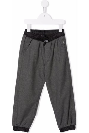 Il gufo Drawstring tailored trousers - Grey