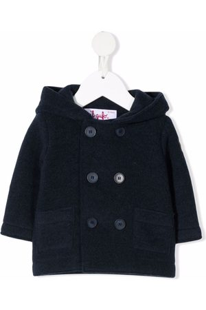 Il gufo Double-breasted hooded coat