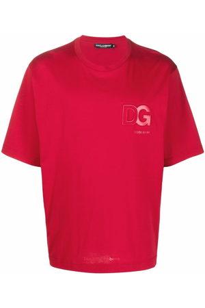 Dolce & Gabbana Logo-embossed cotton T-shirt