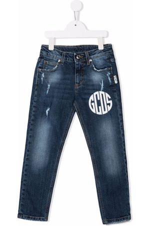 GCDS Logo-print skinny jeans