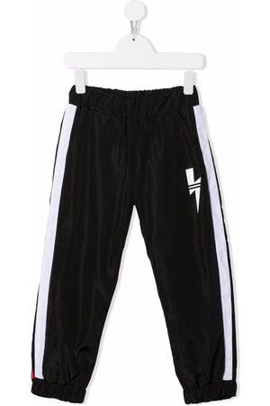 Neil Barrett Boys Sweatpants - Thunderbolt-print track pants