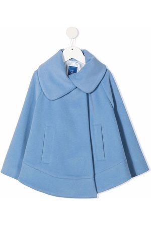 FAY KIDS Peter Pan-collar concealed cape
