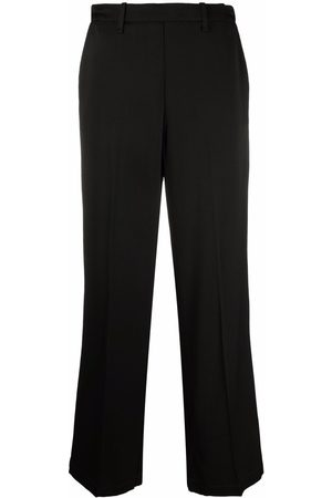 FORTE FORTE Elasticated waistband straight trousers
