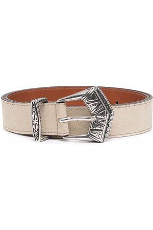 Etro Women Belts - Buckle-fastening leather belt - Neutrals