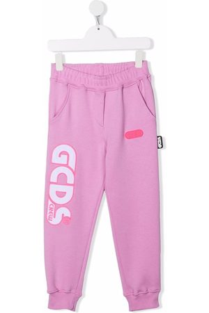 GCDS Embroidered logo track pants