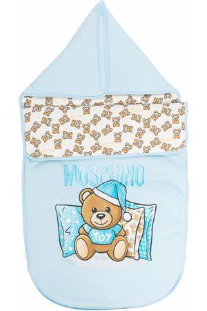 Moschino Teddy logo-print sleeping bag