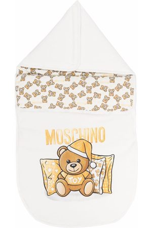Moschino Baby Changing Bags - Teddy Bear logo nest - Neutrals