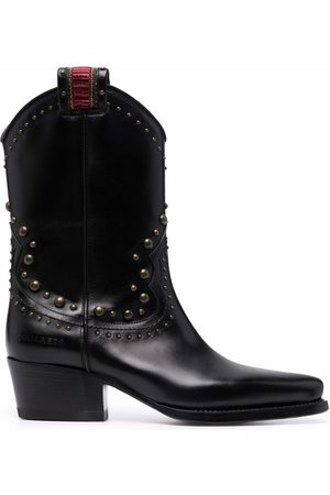 Dsquared2 Women Heeled Boots - Studded mid-heel boots