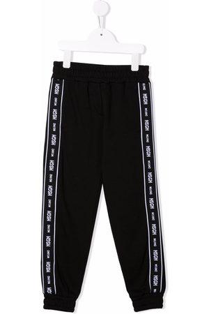 Msgm Boys Sweatpants - Logo tape track pants