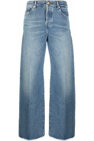 7 for all Mankind Women High Waisted - Zoey high-waist wide-leg jeans