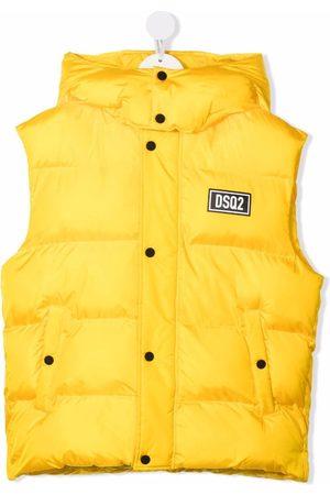 Dsquared2 Boys Gilets - Logo-patch padded gilet