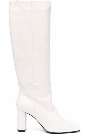Via Roma Square-toe leather boots