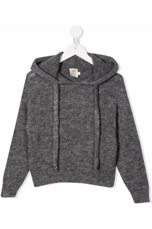 Caffe' D'orzo Beatrice knitted hoodie - Grey