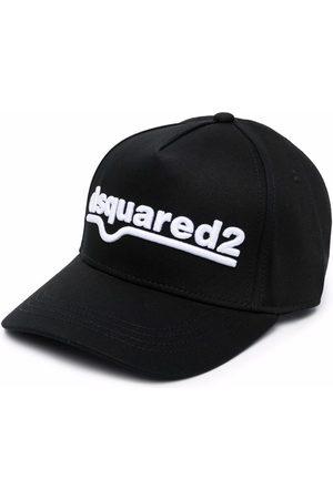 Dsquared2 Boys Caps - Logo-embroidered cotton cap