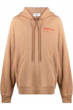 AMBUSH Logo-print hoodie - Neutrals