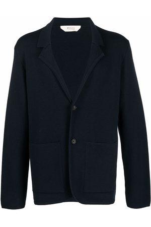 Z Zegna Notched-lapels knitted blazer