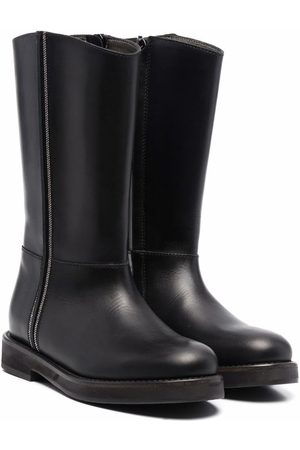 Brunello Cucinelli Chain-link detail tall boots