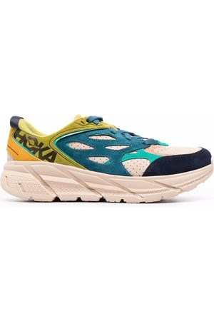 Hoka One One Clifton suede-panel trainers - Neutrals