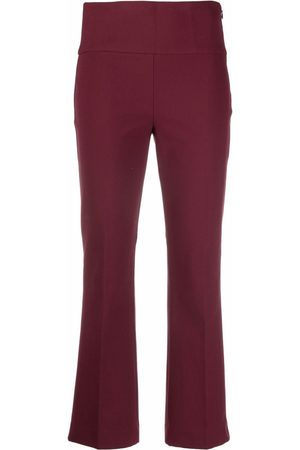 THEORY Fit-and-flare cropped trousers