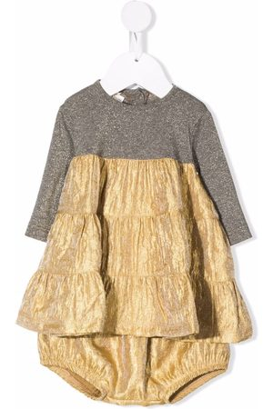 Caffe' D'orzo Coracedro metallic-skirt dress