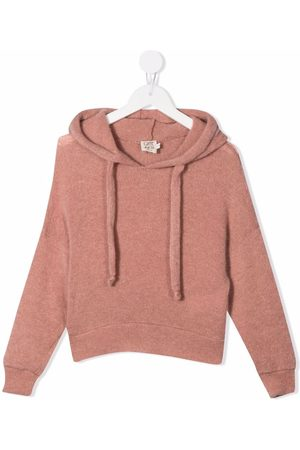 Caffe' D'orzo Girls Hoodies - Beatrice knitted hoodie