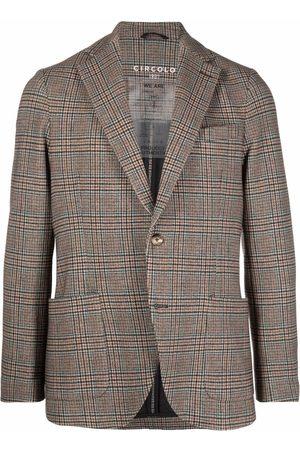Circolo Check-pattern tailored blazer - Neutrals