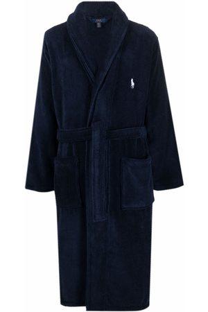Polo Ralph Lauren Men Bathrobes - Embroidered-logo tie-fastening robe