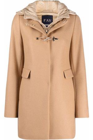 FAY Hooded duffle coat - Neutrals