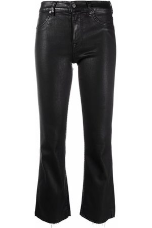 7 for all Mankind Women Bootcut - Coated slim illusion bootcut jeans