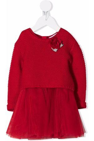 MONNALISA Panelled knitted dress