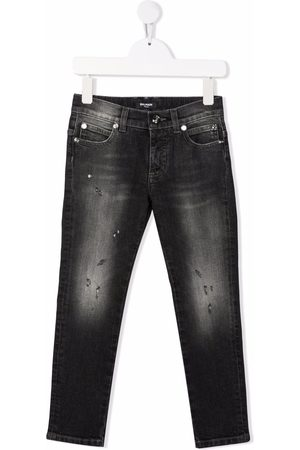 Balmain Boys Slim - Slim-cut faded jeans