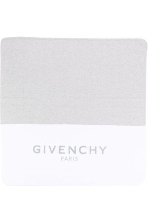 Givenchy Baby Changing Bags - Two-tone cotton-blend blanket - Grey