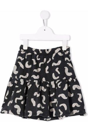 Bobo Choses All-over shapes print ruffled skirt
