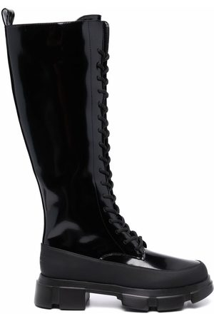 Twin-Set Lace-up high boots