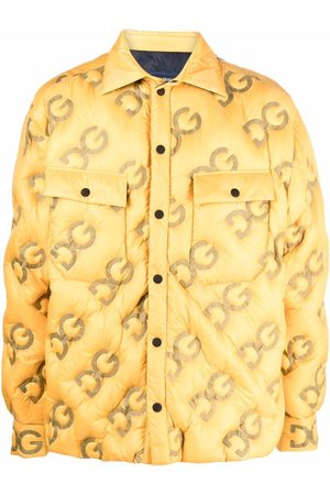 Dolce & Gabbana Logo-embossed padded coat