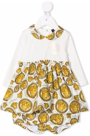 VERSACE Girls Printed Dresses - Medusa Amplified Kids Print dress