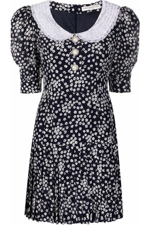 Alessandra Rich Women Printed Dresses - Floral-print mini dress